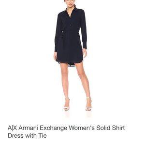 Armani exchange navy blue tie dress